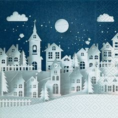 4938 Servilleta decorada Navidad