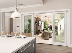 """See our web site for more info on """"outdoor kitchen designs layout"""". It is actually an outstanding spot for more information. Patio Transition Ideas, Transition Flooring, Hamptons Style Homes, The Hamptons, Patio Interior, Interior Design, Wooden Greenhouses, Basic Kitchen, Outdoor Kitchen Design"""