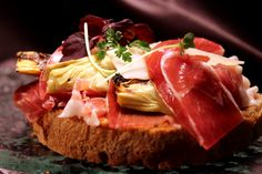 Sandwich with Serano ham and grilled artichoke (available at our Glashouse lobby café)