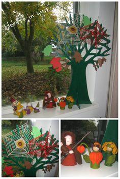 Herfsttafel Steiner Waldorf, Nature Table, Small World, Autumn, Fall, Fairies, Thanksgiving, Nursery, Seasons