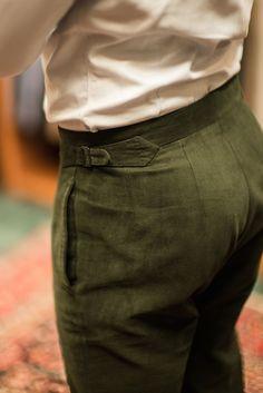 bespoke cotton trousers Calvo