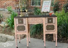 Custom Coral Vanity/Desk Makeover — High Style ReStyle