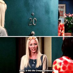 Creepy residence. Phoebe, Monica, Chandler #Friends #TV show #Gif