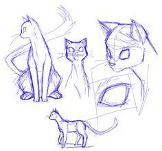 Anatomy Drawing Tutorial Cat sketches by JigokuHana - Animal Sketches, Animal Drawings, Cute Drawings, Drawing Animals, Realistic Drawings, Pencil Drawings, Cat Anatomy, Anatomy Drawing, Anatomy Art