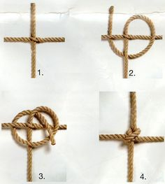 688 x 767 ( Paracord Knots, Rope Knots, Macrame Knots, Rope Crafts, Diy And Crafts, Diy Pour Enfants, Net Making, Diy Bird Toys, Knots Guide