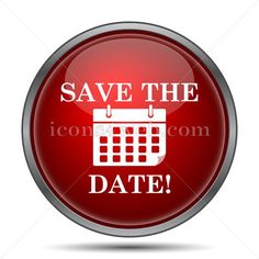 Save the date icon. Save the date website button on white background. – Icons for your website