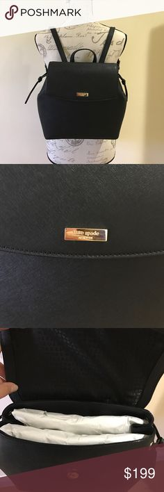 ♠️Price firm♠️Kate spade ♠️ leather backpack nwt Gorgeous leather backpack from Kate spade ♠️ measures 14 by 11 inches, limited edition almost sold out. Only have a couple left. ❤️ kate spade Bags Backpacks
