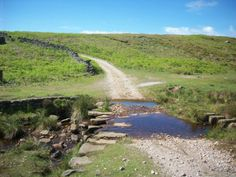 Hardengill Beck. The off road alternative cycle route over Pock Stones Moor which links the new Way Of The Roses coast to coast trail.