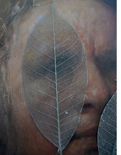 "Skeleton Leaves 5-6"" Silver Metallic Rubber Tree Leaves (10 leaves/pkg)"