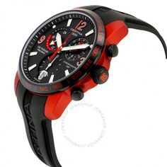 Certina DS Podium Chronograph Men's Watch C0016399705701 - DS Podium - Certina - Watches - Jomashop Red Watches, Sport Watches, Watches For Men, 3 Things, Black Rubber, Ds, Chronograph, Quartz, Crystals