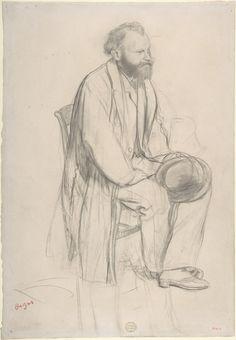 Study for a portrait of Edouard Manet, 1864-65 - Edgar Degas