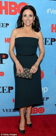 Leading ladies: Julia Louis-Dreyfus and Anna Chlumsky looked stylish on the red carpet at ...