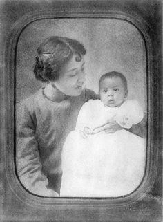 Langston Hughes as a baby. My great aunt and cousin.