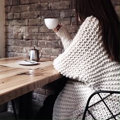It`s always a good time to take a break with a cup of coffee. Especially when you are wearing something cozy.