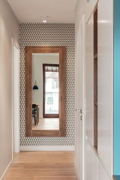 Narrow Hallway Decorating, Small House Decorating, Small Upstairs Hallway, Door Dividers, Ohio House, Entryway Bench Storage, Interior And Exterior, Interior Design, Apartment Makeover