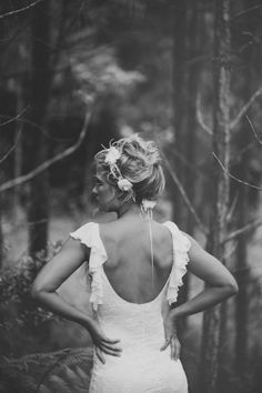 Stunning lace wedding dress by Grace loves lace perfect for the forest woodland boho beach bride that is looking for something that is unique and beautiful in both design and feel x www.graceloveslace.com.au