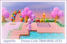 Playground Campsite Animal Crossing New Leaf Nice Path Dress Town Inspiration Idea ACNL ♡ ApplePie ♡ Dream Code 7B00-003E-1F15 ♡