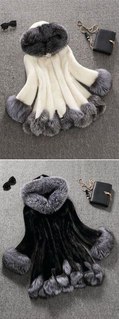 Beautiful! — IF it actually looks that good. If it does, I want one! || Fashion Hooded Artificial Fur Coats For Women.