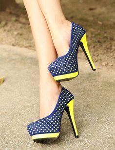 Charming Candy Color Polka Dots Stiletto Pumps For Women, Shop online for $23.10 Cheap Pumps code 703919 - Eastclothes.com