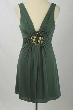 BCBG MaxAzria Size S Green Amazon Jeweled Stretch Dress NWT 2791 ST317  | eBay