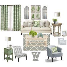 Grey & green living