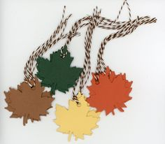 Cool #Go4USA Product…  Fall leaves gift tags - set of 12  at Plymouth Card Company