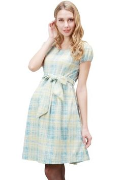 e66aaa7c921cb1 Sweet Mommy Tweedy Check Maternity and Nursing Dress at Amazon Women s  Clothing store