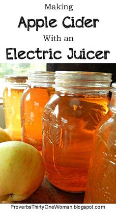 How to Make Apple Cider With an Electric Juicer (Proverbs 31 Woman) Homemade Apple Juice, Apple Cider Uses, Making Apple Cider, Apple Cidar, Homemade Spices, Cold Home Remedies, Natural Remedies For Anxiety, Herbal Remedies, Natural Cures