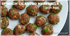 Meatballs are an easy and inexpensive way to get nutrient-dense goodness into your family. These spinach cilantro meatballs are kid-friendly and freeze well for later.