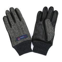 British Wool Charcoal Herringbone Gloves by EVOLG for THE ROYAL BLOKE
