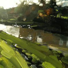 The River Taw (20 x 20 cm) oil o[n board