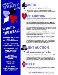 Casino night event flyer... it has some good ideas.