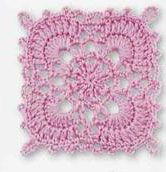 Pink Lace Free Crochet Square Pattern. More Patterns Like This!