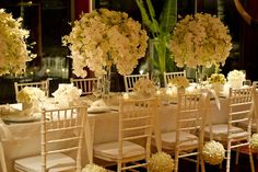 white orchid tall centerpieces