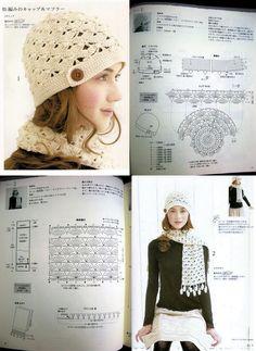 Crochet Set Beanie + Matching Scarf