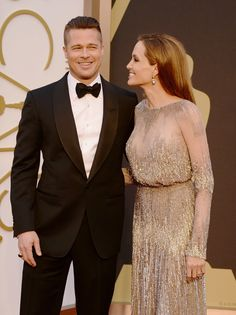 Brad and Angelina Easily Owned the Oscars Red Carpet