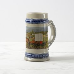 Shop Amish Beer Stein Horse & Buggy created by VisitTheAmish. Horse And Buggy, Amish Recipes, Beer Stein, Business Supplies, Crock, Art For Kids, Color Schemes, Art Pieces, Pottery