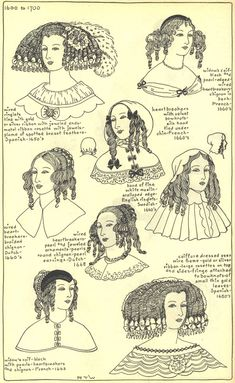 17th century hats and hairstyles