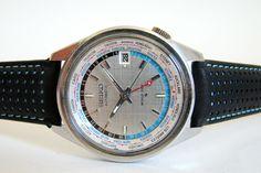 SEIKO World Time GMT Autom. vintage Watch Space Age 60/70er RARE | eBay