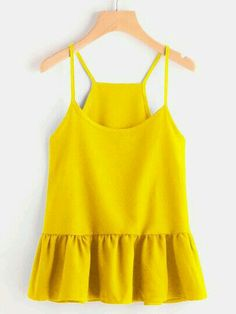 SheIn offers Drop Waist Frill Hem Cami Top & more to fit your fashionable needs. Spring Outfits, Girl Outfits, Cute Outfits, Fashion Outfits, Croped Plus Size, Cami Tops, Urban Chic, Simple Outfits, Dress To Impress