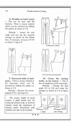 Zadakar Beginner Sewing Patterns, Dress Sewing Patterns, Sewing Projects For Beginners, Sewing Hacks, Sewing Tutorials, Sewing Ideas, Blouses For Women, Pants For Women, Dotted Line