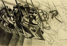 Christopher Richard Wynne Nevinson, 'Study for 'Returning to the Trenches'' 1914-15