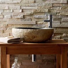Stone Baths & Basins by Mandarin Stone-Skilfully carved from single pieces of stone for a distinctive natural look:http://bit.ly/xokRac