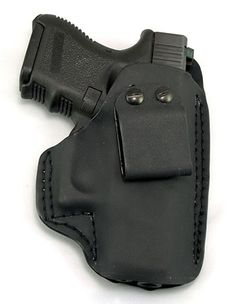 FIST K6 IWB holster for my Glock 26 - The K stands for kydex, which is a thermoplastic material. Although it probably looks uncomfortable for inside the waistband carry, it's actually pretty comfortable. My only complaint is the super thin kydex that FIST uses is prone to cracking and then the holster is useless as it can't be repaired.