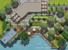 Landscaping Architecture Masterplan Photoshop Ideas For 2019 Landscape Architecture Model, Landscape Design Plans, Landscape Concept, Architecture Plan, Residential Architecture, Site Plan Rendering, Site Development Plan, Parque Linear, Lanscape Design