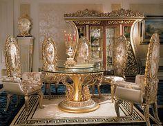 Italian Furniture - Phoebe Round Table Italian Dining Room Furniture