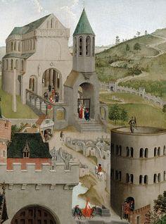 Workshop of Rogier van der Weyden - The Dream of Pope Sergius (c. 1430). Detail