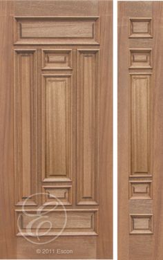 Exterior Solid Mahogany Excellent Narrow Seven Panel Middle Plain Panel Modern Wooden Doors, Wooden Door Design, Wooden Front Doors, Wood Doors, Double Door Design, Main Door Design, Door Design Photos, Pooja Room Door Design, False Ceiling Design