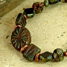 StarBurst Pressed Picasso Glass Grape and Bronze by enlalumiere, $35.00
