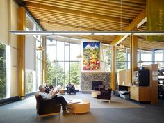Whistler Public Library reading room
